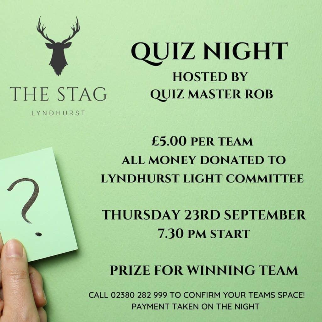 Quiz Night Lyndhurst