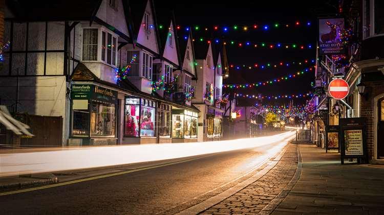 Christmas Lights In Lyndhurst